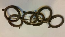 Antique Curtain Rod Rings Rollers Vintage Victorian Set Solid Brass Old lot 1