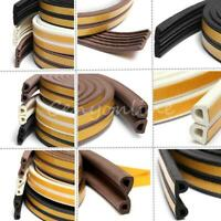 5M E/D/P-type Foam Draught Self Adhesive Window Door Excluder Rubber Seal