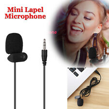 1m Portable Studio Speech Microphone Mic Clip On Lapel for Speech PC Desktop