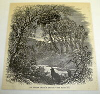 1878 magazine engraving ~ AN INDIAN CHILD'S GRAVE