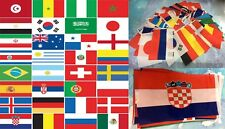 More details for 32 nations european fabric flags 5ft x 3ft and 40m fabric bunting world cup 2018