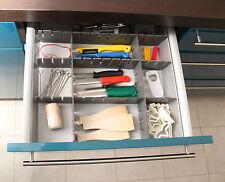 Drawer 18 Stück Organisateur de tiroir Divider TABLETTE UNIVERSAL Gris 653