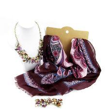 Joyas de estilo marroquí frontera Bufanda Y Conjunto De Collar Para Mujer