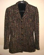 Vtg Emanuel Ungaro Parallele Handwoven Nubby Woven-Wool-Blend Jacket - M $2510