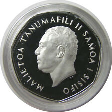 elf Western Samoa 1 Tala 1984 Silver Proof Piedfort  only 3,000 minted