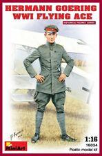 Miniart 1:16 Hermann Goering WWI Flying Ace Figure Model Kit