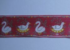 GIFTWARE-RIBBON 10mtrs x 30mm Duck Design Red Giftwrap Ribbon