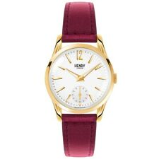 Henry London Ladies Holborn White Burgundy Watch RRP £115 Brand New and Boxed
