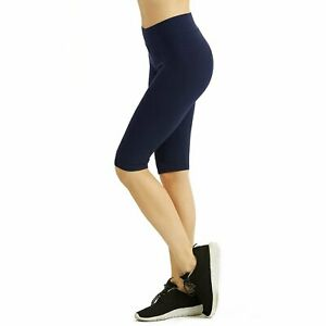 DailyWear Womens Solid Knee Length Short Yoga Cotton Leggings