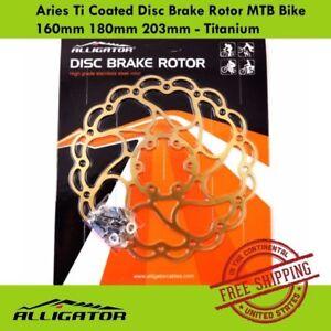 ALLIGATOR Aries Ti Coated Disc Brake Rotor MTB Bike 160mm 180mm 203mm - Titanium