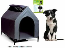 Waterproof Pet House Portable Flea Grey Color Dog Bed Puppy Kennel Elevated FD