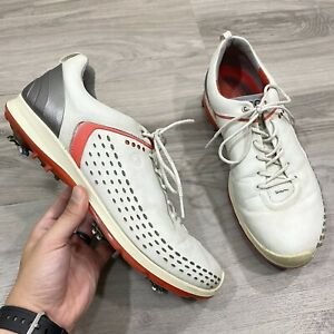 ECCO BIOM G2 Yak Leather Golf Shoes Mens Size 45 US 11-11.5 Soft Spikes Hydromax