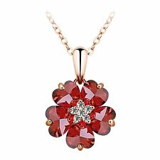 Pendant Including Chain Multi-Colored Cubic Zirconia
