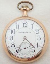 ANTIQUE BURLINGTON SPECIAL 19 JEWEL GOLD FILLED POCKET WATCH