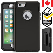 For iPhone 5 5S 6 6S 7 8 Plus Defender Case Hybrid Shockproof Cover + Belt Clip