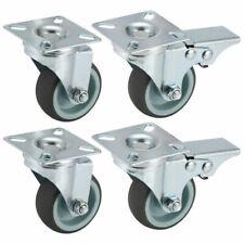 4 Stück 50mm Transportrollen Lenkrollen mit Bremse Möbelrolle Schwerlastrollen
