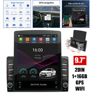 """9.7"""" GPS Navigation For Car Double Din HD Stereo Radio w/ Bluetooth Player Wifi"""