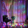 US 3M 300 LED Xmas Window Curtain Icicle String Lights Party Wedding Decor