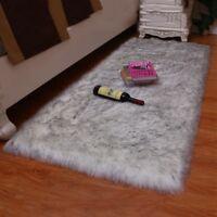 Fluffy Rug Anti-Skid Shaggy Area Rug Dining Living Room Bedroom Carpet Floor Mat