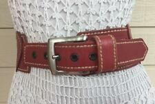 MARCS italy ADORABLE WASHED RED LEATHER HEART CUTOUT DRESS BELT - SM