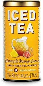 Pineapple Orange Guava Green Iced Tea by The Republic of Tea, 8 Pouches