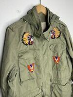 Ralph Lauren D&S XS Green Field Utility Jacket RRL Military M65 Indian Aztec