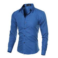 Luxury Fashion Men's Slim Fit Shirt Long Sleeve Dress Shirts Casual Shirt Tops