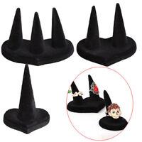 Fashion Black Velvet 1/2/3 Finger Ring Stand Jewelry Holder Display Showcas ¾q
