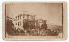Rare 1860s CDV Photo of Mansion on Hill at San Francisco by Summerhay's