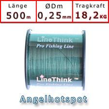 500m (0,044€/m) Angelschnur Tarngrün Rundgeflochten 0,25mm 18,2KG Angelhotspot X