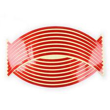 16 Strips Reflective Motorcycle Car Rim Stripe Wheel Decal Tape Stickers Decor