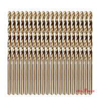 """20-piece 1/4"""" Round Shank HSS M35 Cobalt Twist Drill Bits for Metal"""