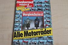 164695) Honda XL 600 LM vs Yamaha XT 600 Z - Motorrad Reisen Sport 08/1986