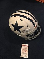 JASON WITTEN SIGNED DALLAS COWBOYS GAME USED HELMET JSA WITNESS