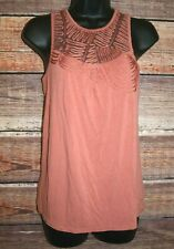 Smart Set Women's Size Small Rose Coloured Tank with Mesh and Braid Detail