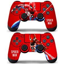 Marvel Spider Man Vinyl Skin Decals Stickers for PS4 two Controllers Skin Covers