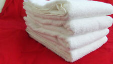"TWO PIECE BATH & HAND TOWEL WHITE THE BIG ONE BORDER COTTON Approx 53"" x 30"" NEW"