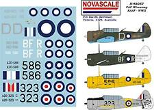 RAAF CAC Wirraway WWII Decals 1/48 Scale N48057