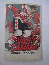 Russian Soviet USSR Vas-Y Canada Team Hockey Postcard Jean Claude Tremblay 1974