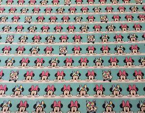 Disney Minnie Mouse Faces Fabric 100% Cotton Fat Quarter 50x 50cm sewing