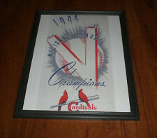 1944 ST. LOUIS CARDINALS NATIONAL LEAGUE CHAMPS FRAMED PRINT