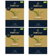 4 x Dallmayr Assam Bio Schwarzer Tee 20 Pyramiden a 2,5g