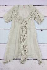 SILKE lufitng seidenkleid Kleid mit Rüschen 100% silk dress
