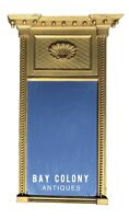 20TH C FEDERAL ANTIQUE STYLE SHELL CARVED BORGHESE GOLD TABERNACLE MIRROR