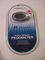 NEW - SPORTLINE STEP & DISTANCE PEDOMETER