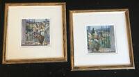 Tuscany Hillside I & II Litho Print Art by Allayn Stevens - Glass & Wood Framed