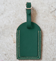 travel luggage handbag baggage suitcase ID tag cow Leather handmade green z838