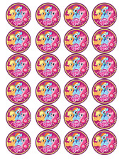 24 x Large My Little Pony Edible Cupcake Toppers Birthday Party Cake Decoration