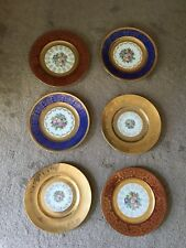 Antique 22k Gold Limoges China Cabinet Plates Lot Of 6
