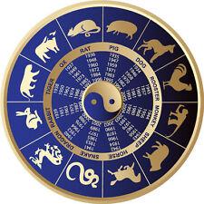 Framed Print - Chinese Zodiac Calendar (Picture Poster Oriental Art Feng Shui)